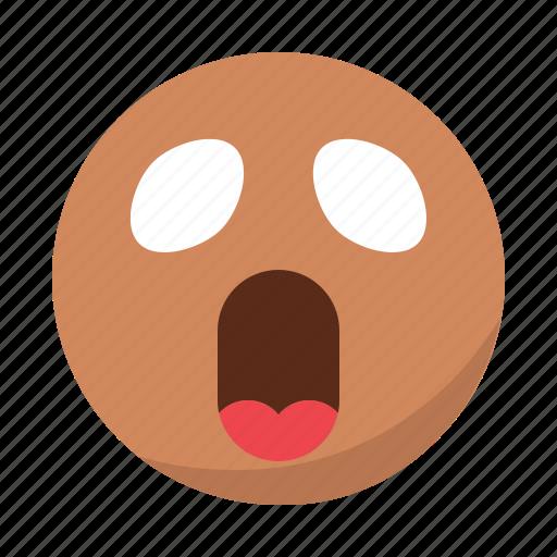 anime, emoji, emoticon, face, shocked, surprised icon