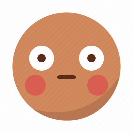 ashamed, embarassed, emoji, emoticon, face, surprised icon