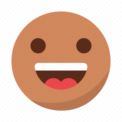 emoji, emoticon, face, happy, laugh, smile icon