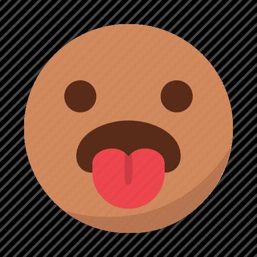 emoji, emoticon, face, hungry, tongue icon