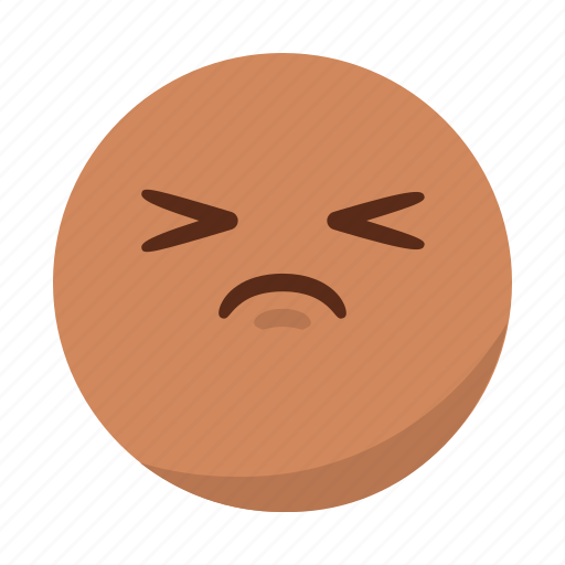 emoji, emoticon, face, pain, sad, upset icon