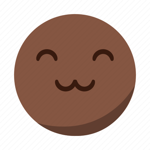 cute, emoji, emoticon, face, happy, smile icon