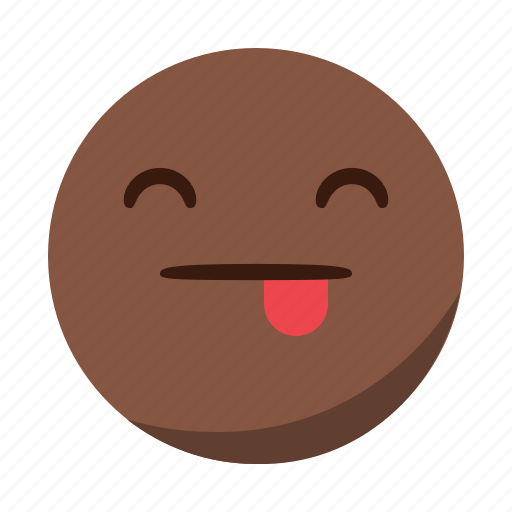 emoji, emoticon, face, happy, smile, tongue icon