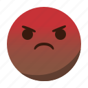 angry, emoji, emoticon, face, mad icon