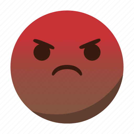 angry, emoji, emoticon, face, mad icon