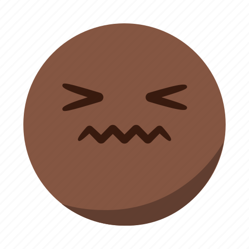 disgusted, emoji, emoticon, face, pain, sad, tongue icon