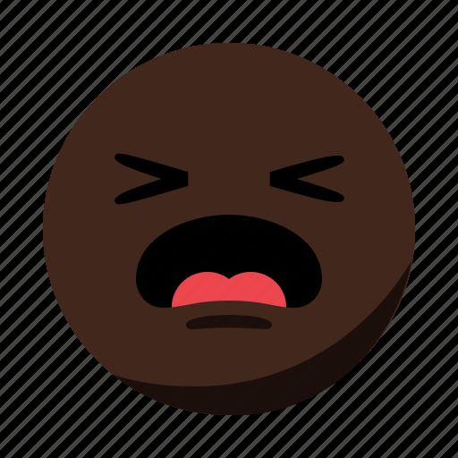 cry, emoji, emoticon, face, sad, scream icon
