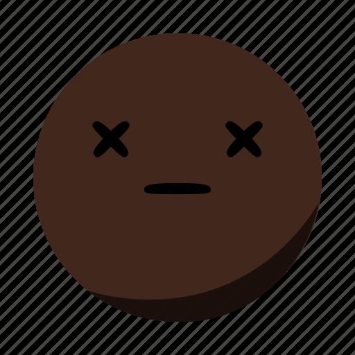 closed, dead, emoji, emoticon, eyes, face icon