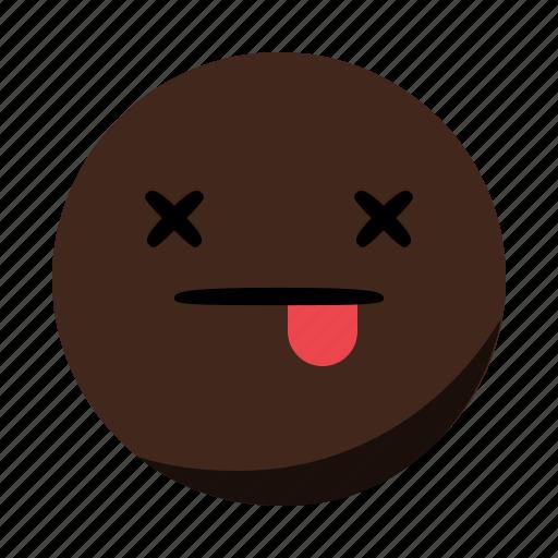 closed, dead, emoji, emoticon, eyes, face, tongue icon
