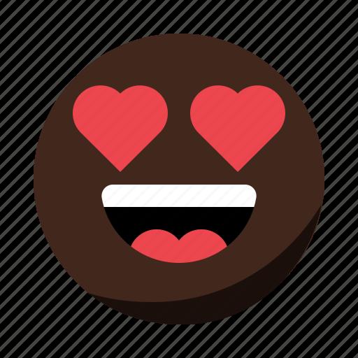 emoji, emoticon, face, happy, love, smile icon