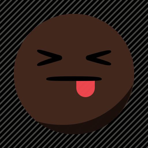 emoji, emoticon, face, tongue icon