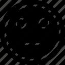 emoji, emotion, face, line, staring icon