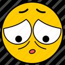 emojiashamed03, sad, sad eyes, sorry icon