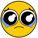 cry, crying, emojicrying01, sad, sorry, tear, tears icon