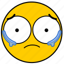 cry, crying, emojicrying03, sad, sorry, tear, tears icon