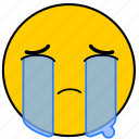 cry, crying, emojicrying05, sad, sorry, tear, tears icon
