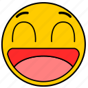 big smile, emojihappy03, happy, smile icon
