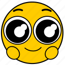 big eyes, emojihappyeyes01, happy, happy eyes, smile icon