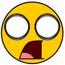emojishocked01, shock, shocked, surprise, surprised icon