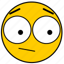 emojisurprised03, neutral, shock, shocked, surprise, surprised icon