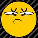 emojisuspicious01, skeptical, suspicious icon