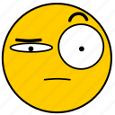 emojisuspicious03, skeptical, suspicious icon