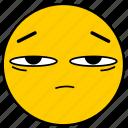 emojitired01, skeptical, suspicious, tired icon