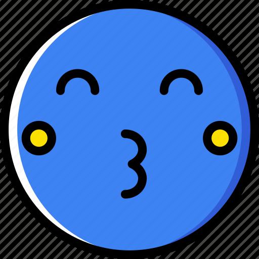 emoji, emoticons, face, kiss icon