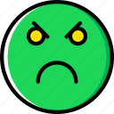 angry, emoji, emoticons, face