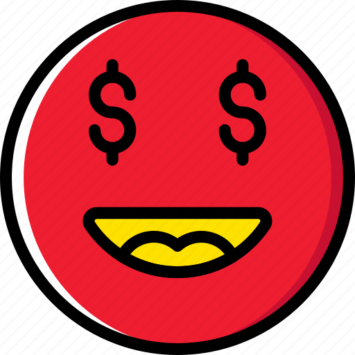Money, emoticons, emoji, face icon
