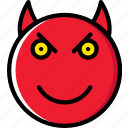 devil, emoji, emoticons, face icon