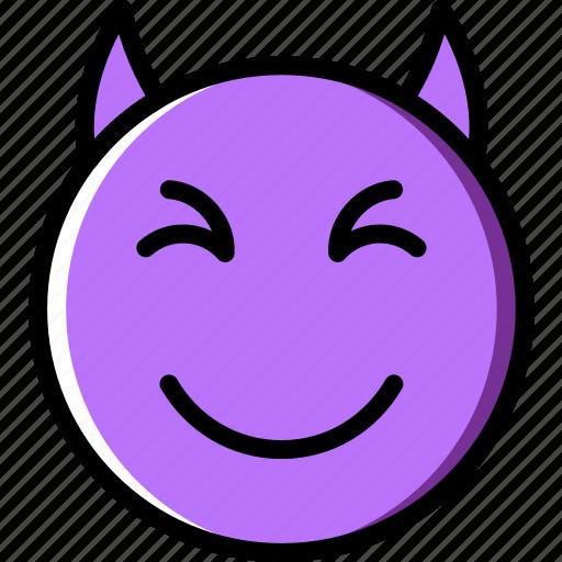 devil, emoji, emoticons, face icon