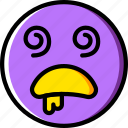 dazed, emoji, emoticons, face icon