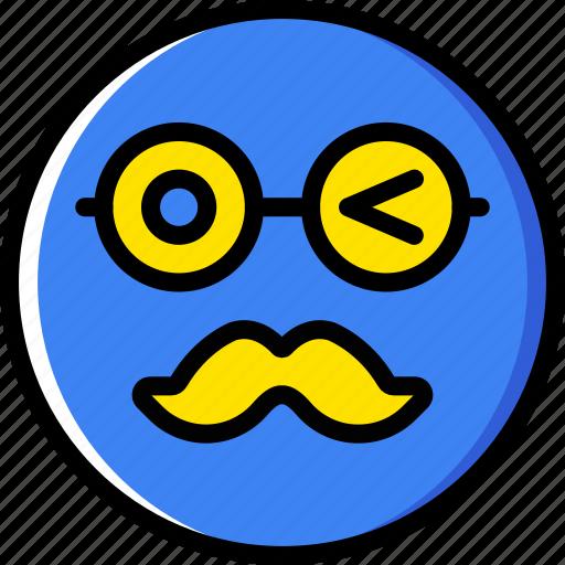 Emoticons, emoji, moustache, face icon
