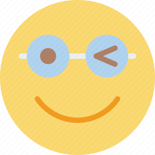 emoji, emoticons, face, wink icon