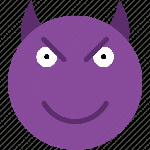 Devil, emoji, emoticons, face icon - Download on Iconfinder