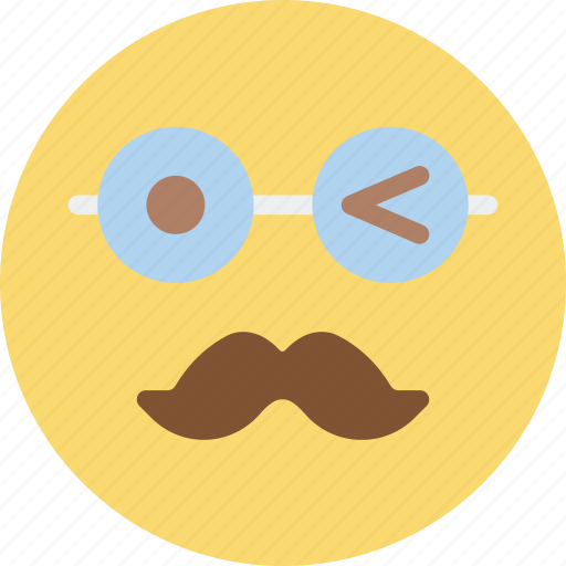 Emoji, emoticons, face, moustache icon - Download on Iconfinder