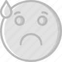 emoji, emoticons, face, worried