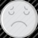 emoji, emoticons, face, sad