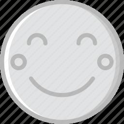 blushing, emoji, emoticons, face icon