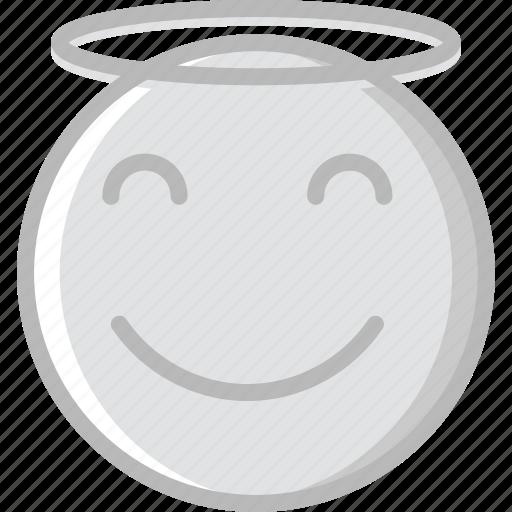 angel, emoji, emoticons, face icon