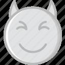 devil, emoji, emoticons, face