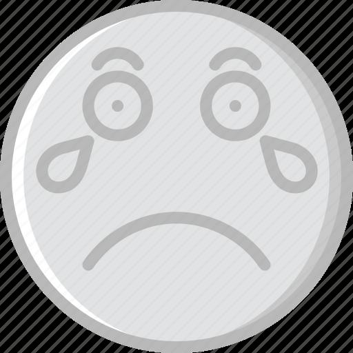 Emoticons, emoji, crying, face icon