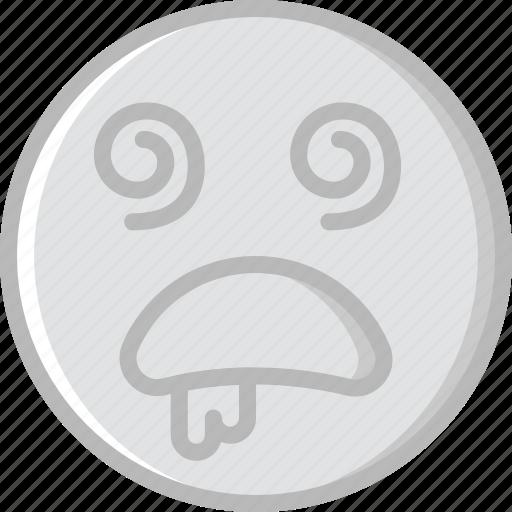 Dazed, emoji, emoticons, face icon - Download on Iconfinder
