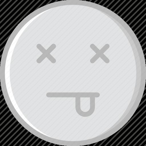 Emoticons, emoji, dead, face icon - Download on Iconfinder