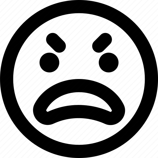 Angry, emoji, emoticons, face icon - Download on Iconfinder