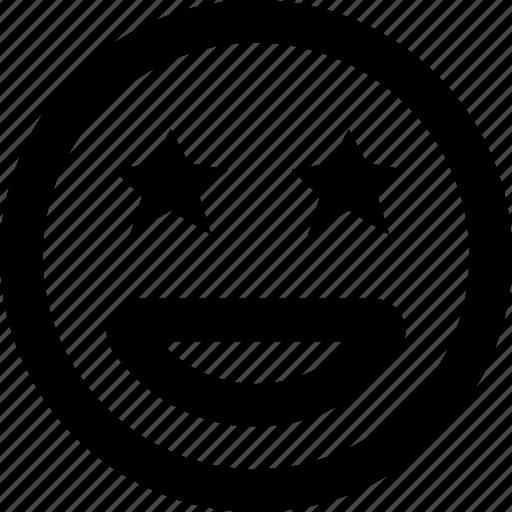 Emoticons, emoji, starstruck, face icon