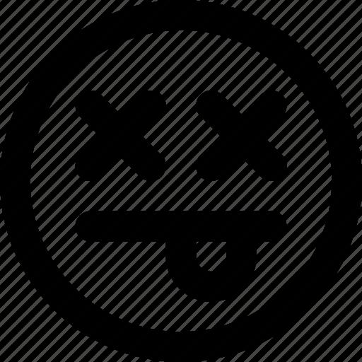 dead, emoji, emoticons, face icon