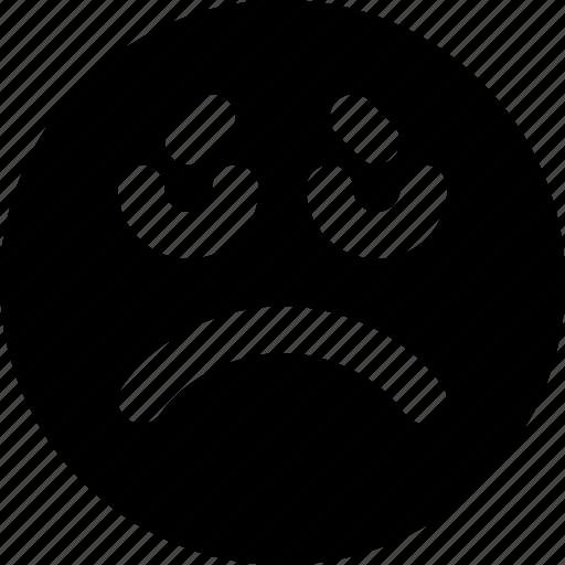 emoji, emoticons, face, sad icon