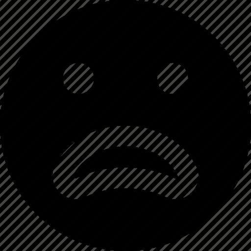 emoji, emoticons, face, worried icon